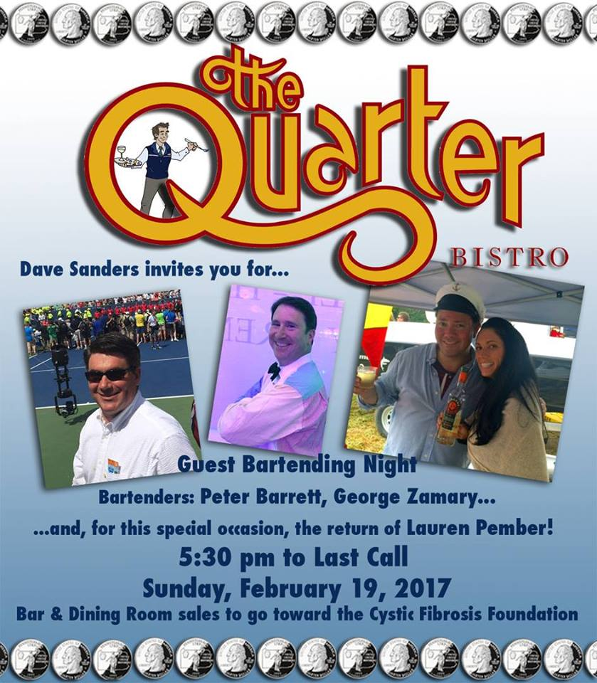 Good time for a Great Cause – Please join me Sunday, February 19th in support of the Cystic Fibrosis Foundation